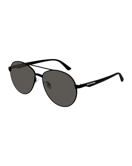 Balenciaga Men's Aviator Metal Unisex Sunglasses