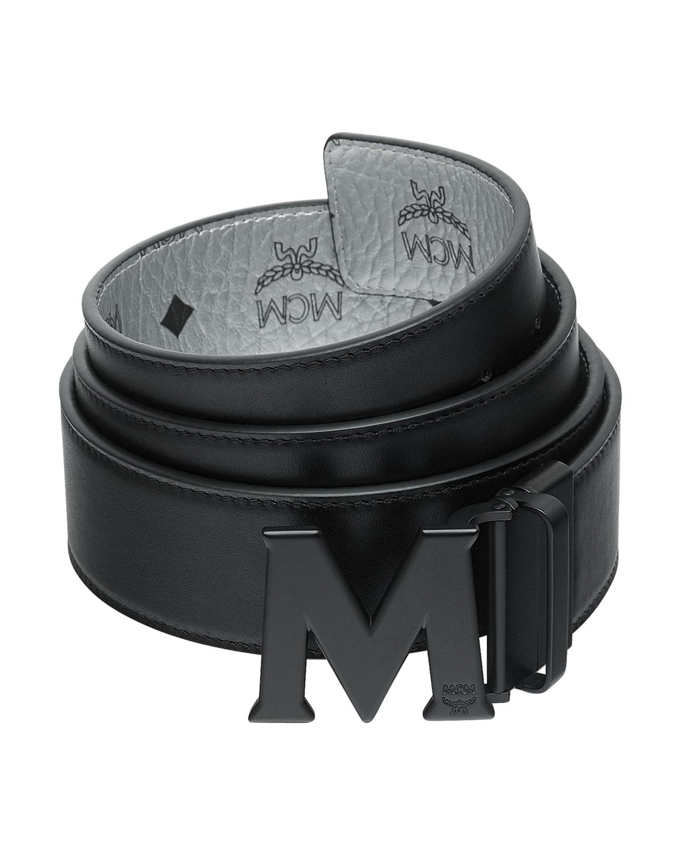 8e8890b27 MCM Men's Crown Visetos Reversible M-Buckle Monogram Belt   Neiman ...
