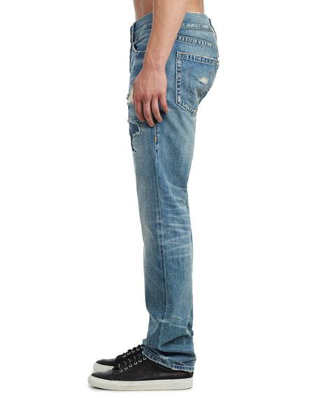 True Religion Men's Geno Worn Transparency Ripped Jeans