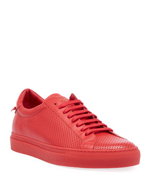 Givenchy Men s Urban Street Perforated Leather Low-Top Sneakers e98e0d5e885d