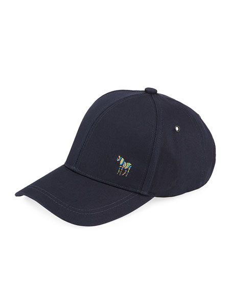 Paul Smith Men's Zebra-Embroidered Baseball Cap
