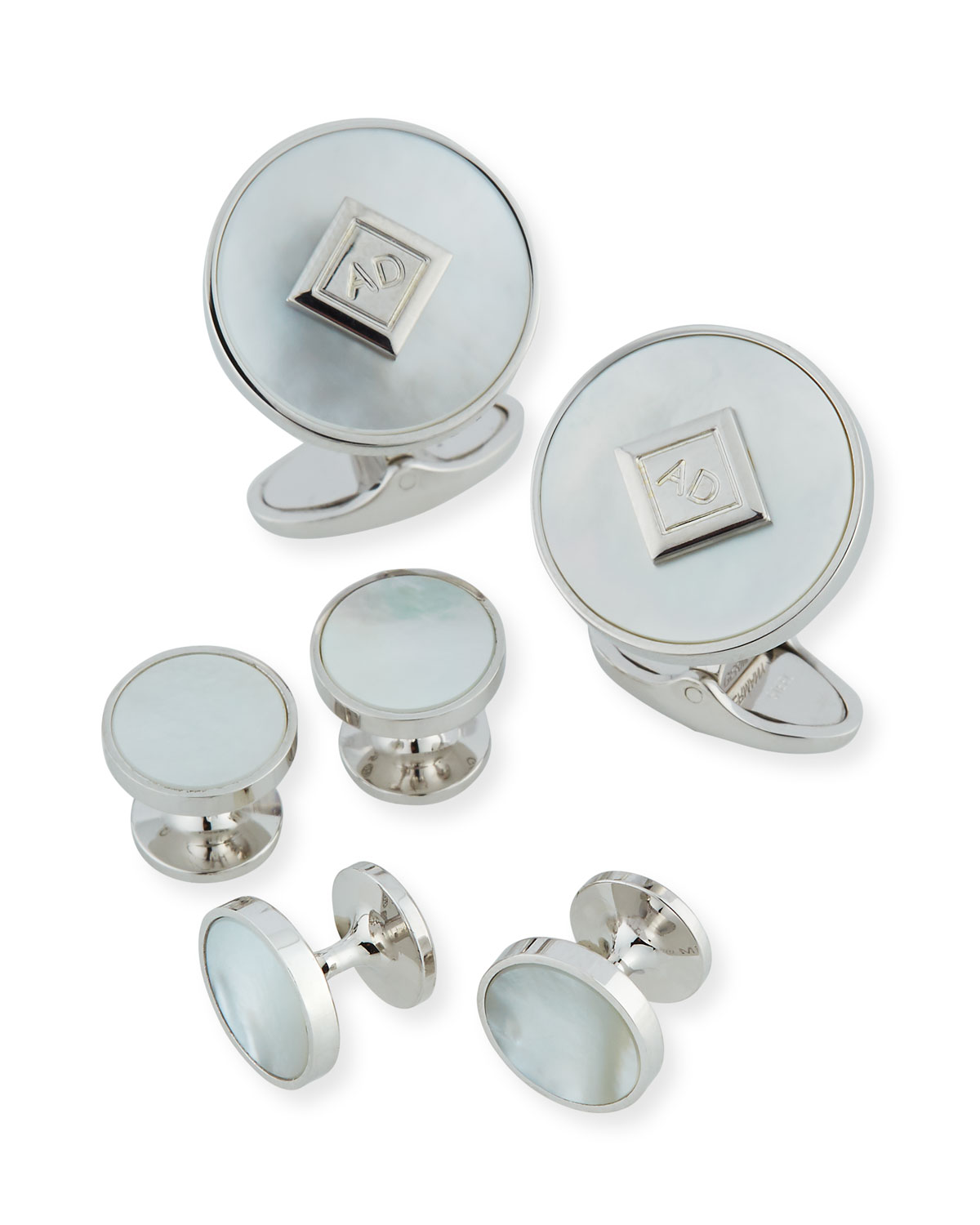 dunhill Mother of Pearl Cufflinks & Stud Set