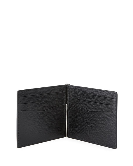 dunhill Men's Textured Leather Wallet with Money Clip