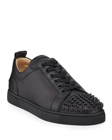 Christian Louboutin Men's Louis Junior Spiked Low-Top Sneakers