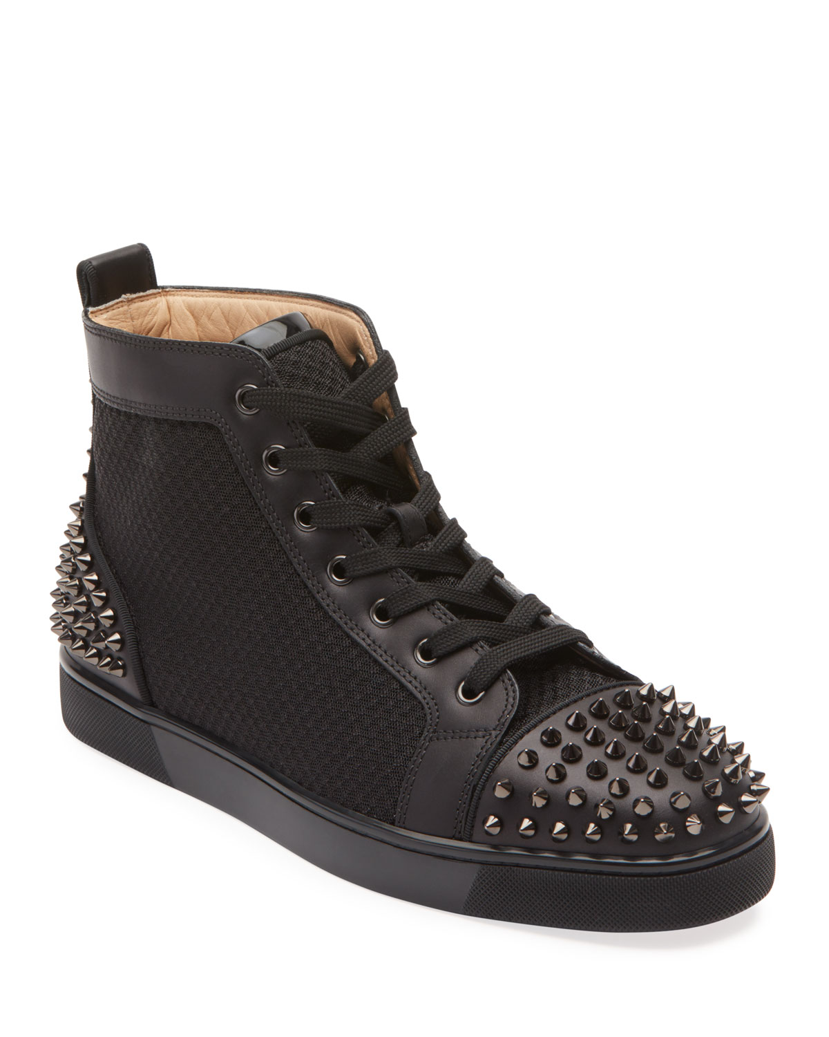 release date: 8a646 29bed Men's Lou Spiked Leather High-Top Sneakers