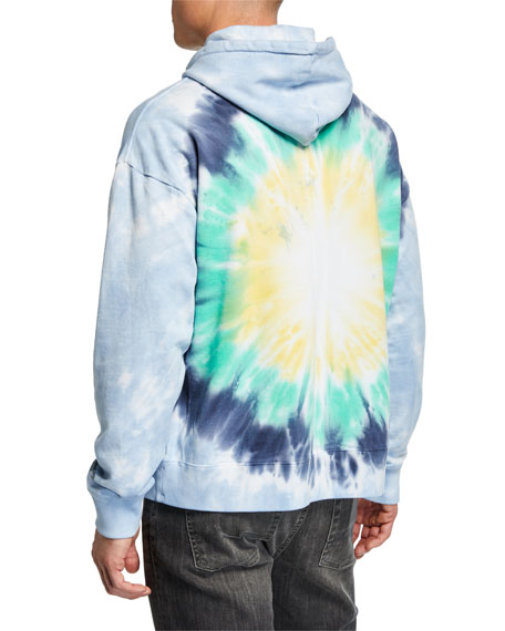 Ovadia & Sons Men's x Stanley Mouse Skeleton-Graphic Tie-Dye Hoodie