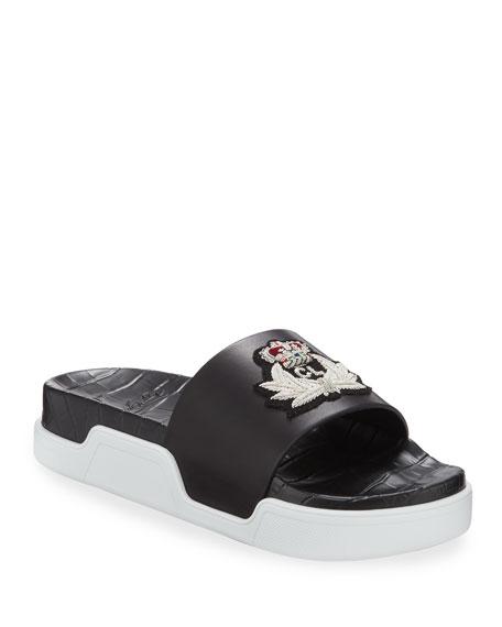Christian Louboutin Men's Beau Pool Slide Sandals