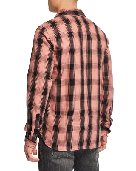 Ovadia & Sons Casual Fit Max Plaid Button-Front Shirt