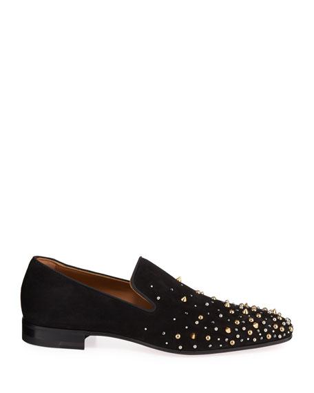 Christian Louboutin Men's Milkylion Studded Venetian Loafers