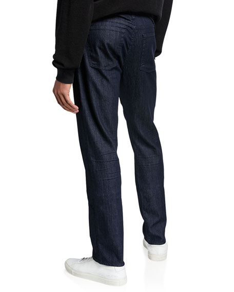 7 For All Mankind Men's Slimmy Straight-Leg Jeans in Executive Wash