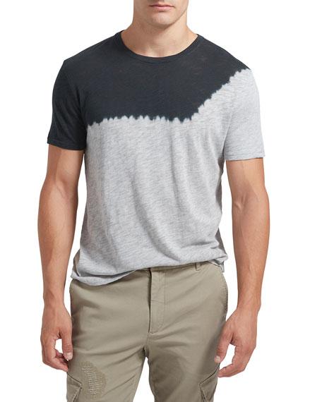 ATM Anthony Thomas Melillo Men's Dip-Dye Crewneck Slub T-Shirt