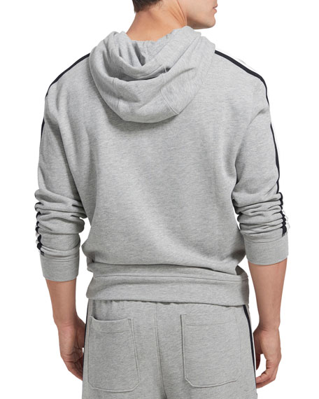 ATM Anthony Thomas Melillo Men's French Terry Hoodie with Racing Stripe