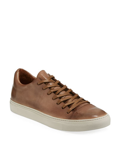 Men's Reed Leather Low-Top Sneakers