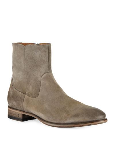 Men's Eldridge Zip Suede Boots