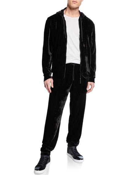 Versace Men's Velvet Jogger Pants