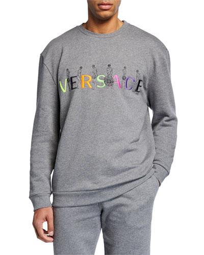 Men's Embroidered Logo Crewneck Sweatshirt