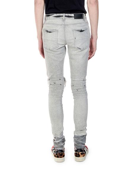 Amiri Men's Straight-Fit Distressed Broken Denim Jeans