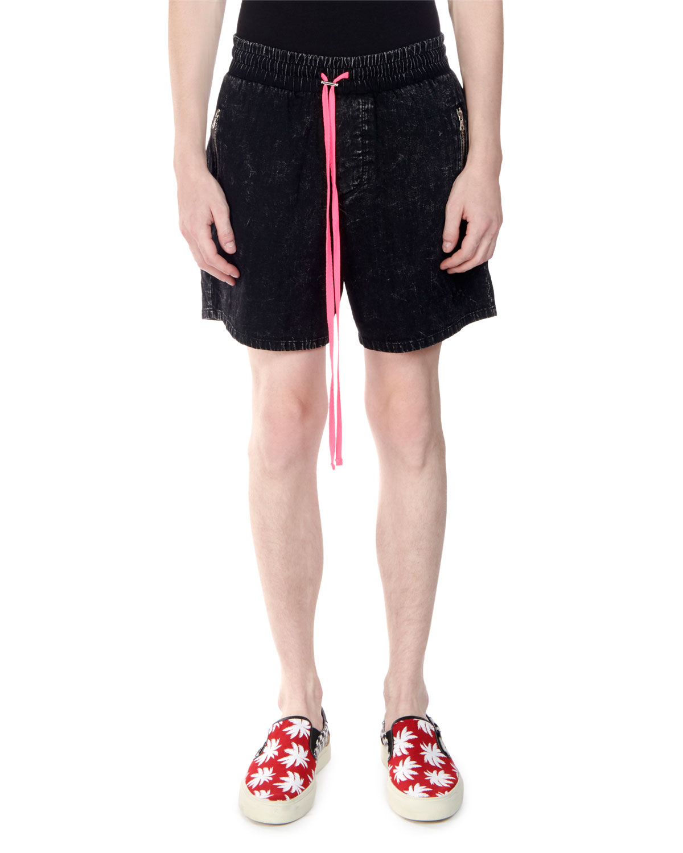 1de90886bb Amiri Men's Acid Wash Denim Tennis Shorts | Neiman Marcus