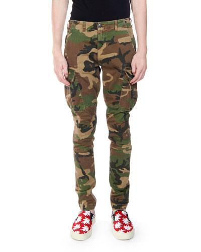 Men's Camouflage Stack Cargo Pants
