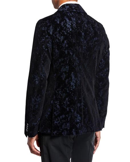 BOSS Men's Crushed Velvet Abstract Dinner Jacket