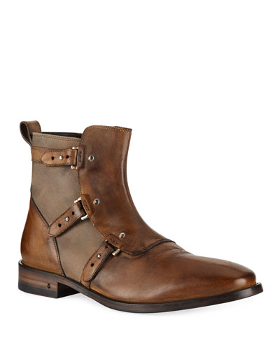 Men's Fleetwood Leather Pin Strap Boots