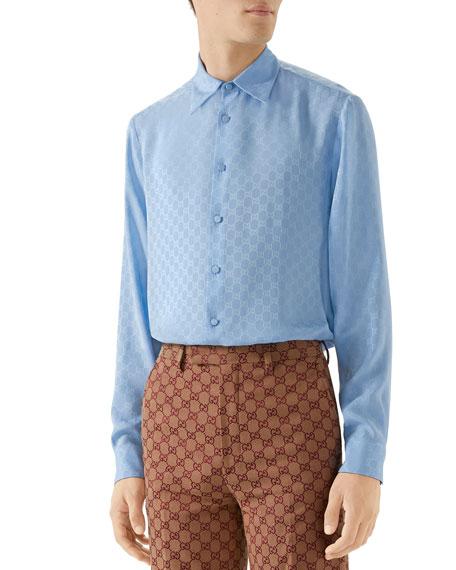 Gucci Men's Interlocking-G Sport Shirt