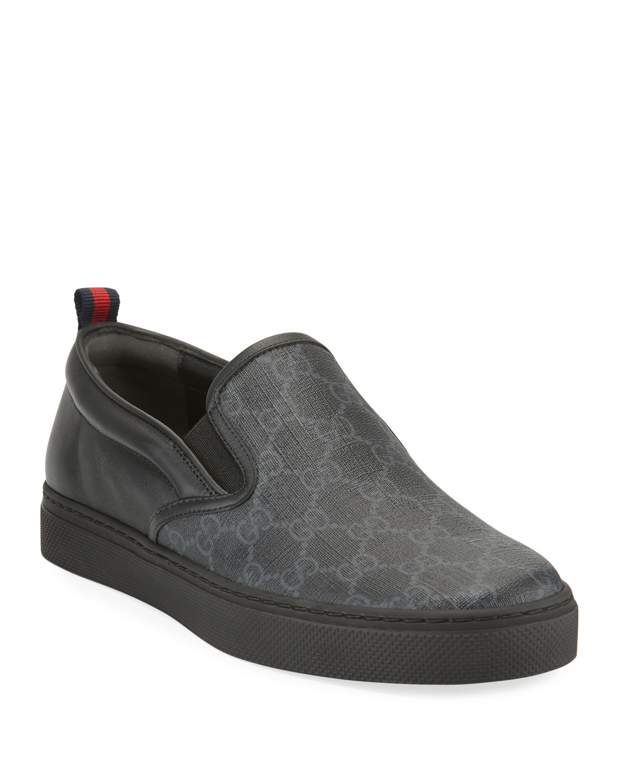 7e253f091 Gucci Men's Dublin Logo Slip-On Sneakers | Neiman Marcus