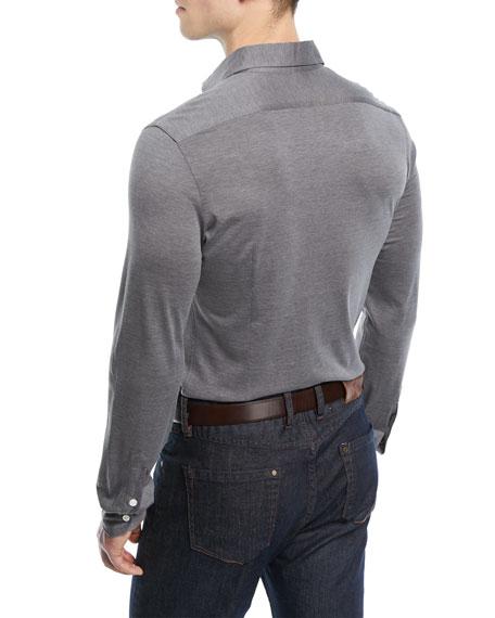 Isaia Silk-Blend Sport Shirt