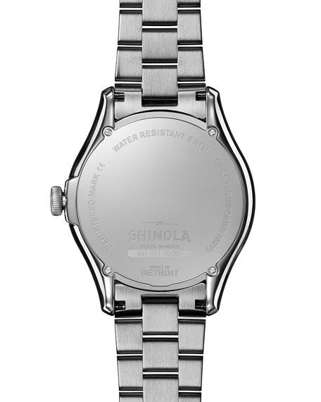 Shinola 38mm Vinton Men's Bracelet Watch, Black