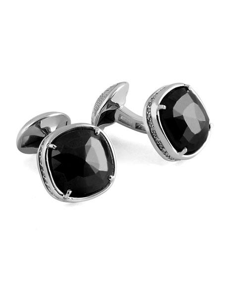 Tateossian Black Diamond Square Cufflinks