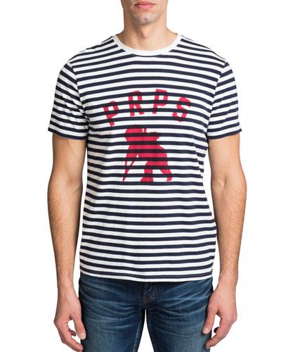 Men's Short-Sleeve Cherub Logo Stripe T-Shirt