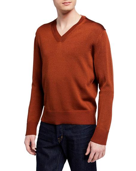 TOM FORD Men's Silk/Wool V-Neck Sweater