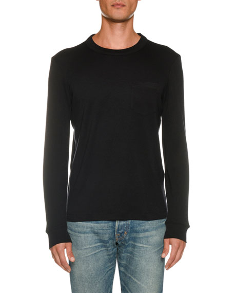 TOM FORD Men's Long-Sleeve Solid T-Shirt