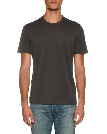 TOM FORD Men's Short-Sleeve Solid T-Shirt, Gray