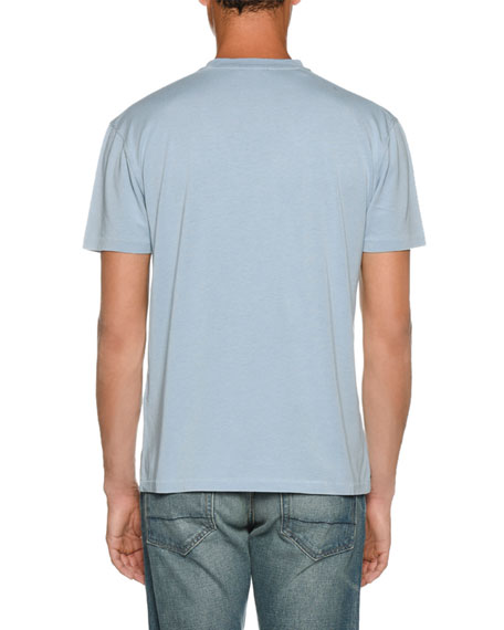 Image 2 of 2: TOM FORD Men's Short-Sleeve Solid T-Shirt, Blue