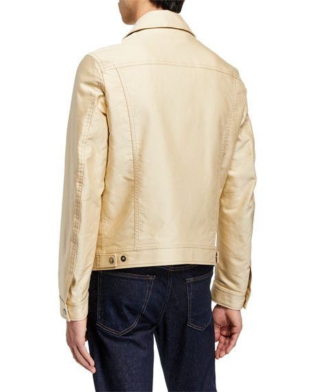 TOM FORD Men's Leather-Trim Cotton Sateen Jacket