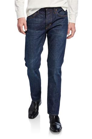 TOM FORD Men's Straight-Fit Dark-Wash Jeans $690.00