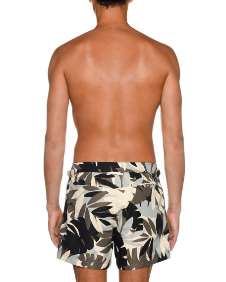 Image 3 of 3: TOM FORD Men's Tropical Graphic Swim Trunks
