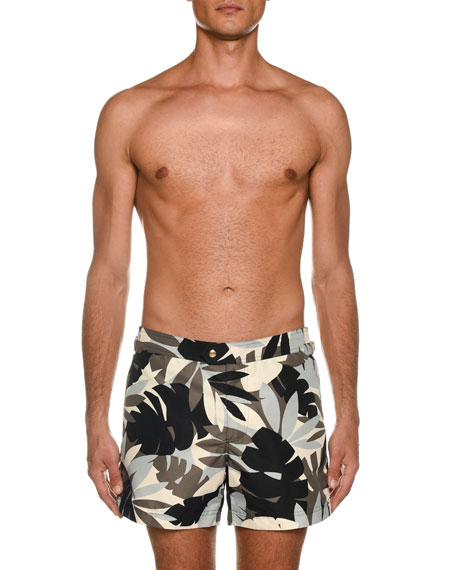 Image 1 of 3: TOM FORD Men's Tropical Graphic Swim Trunks