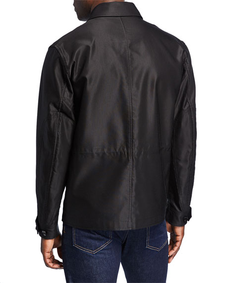 TOM FORD Men's Sateen Jacket w/ Front Pockets