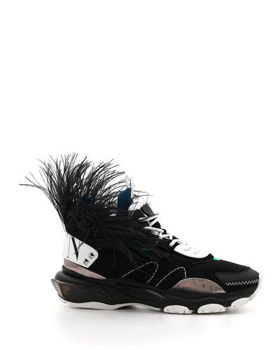 Men's Runway High Bounce Feather Sneakers