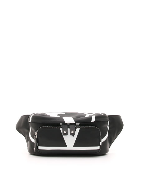 Valentino Men's VL Logo Leather Belt Bag