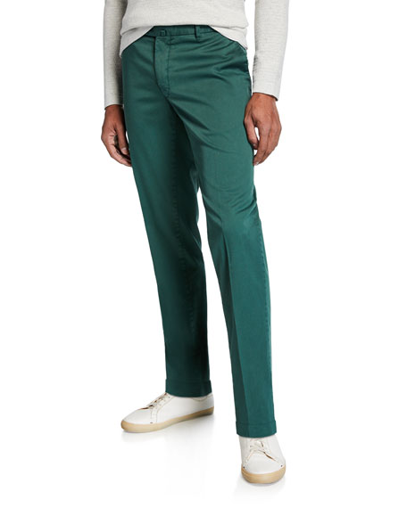 Neiman Marcus Men's Cotton Stretch Pants