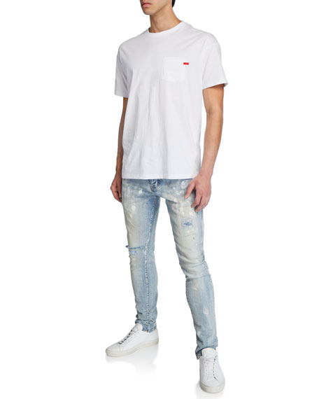 PURPLE Men's Slim-Fit Distressed Jeans
