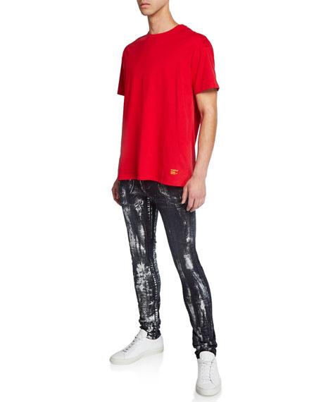 PURPLE Men's Slim-Fit Brush Stroke Jeans