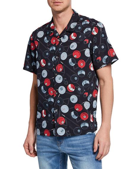 Ovadia & Sons Men's Billiard Short-Sleeve Sport Shirt