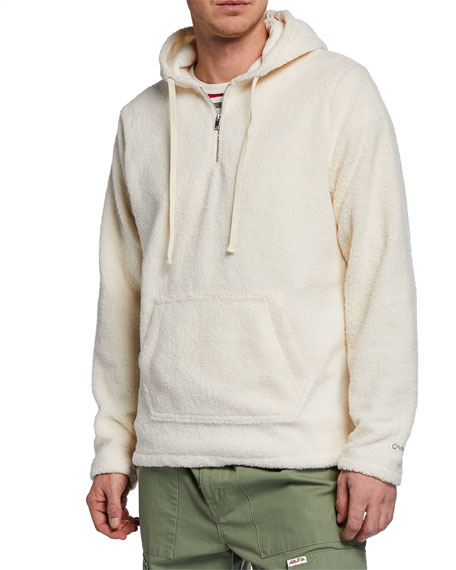 Ovadia & Sons Men's Coze Fleece Quarter-Zip Hoodie