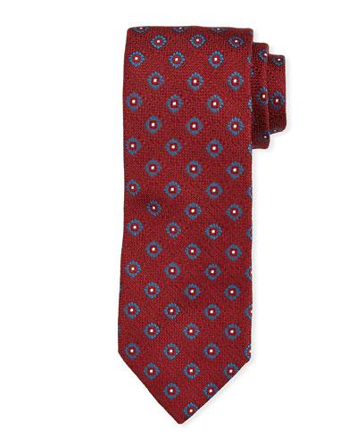 Floral Pattern Tie  Red