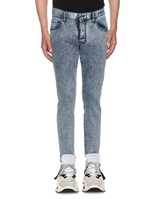 c5a23c841556a5 Dsquared2 Men's Acid Wash Skater Slim Straight-Leg Jeans   Neiman Marcus