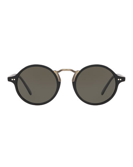 Oliver Peoples Men's Kosa 48 Round Sunglasses - Polarized